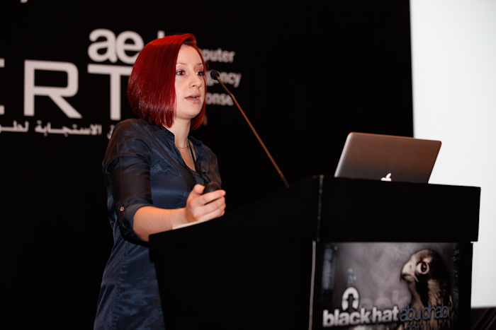Ali presenting at Black Hat Abu Dhabi 2011